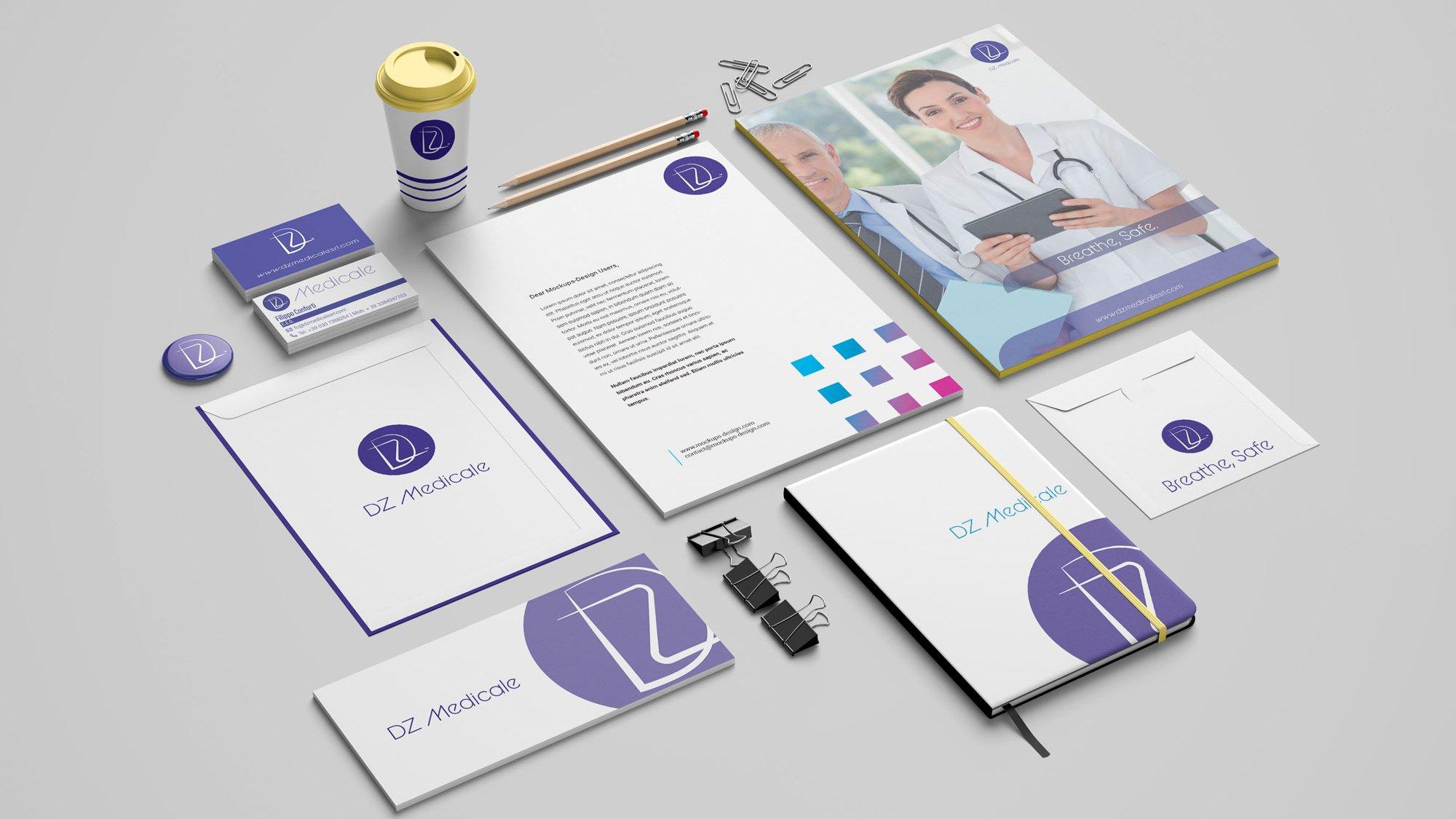 corporate identity DZ Medicale das mechanische auge düsseldorf